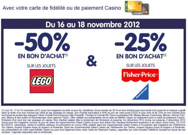 -50% en bon d'achat chez Géant Casino