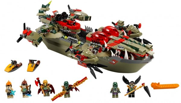 LEGO Legends of Chima - 70006 Cragger's Croc-Boat Centre