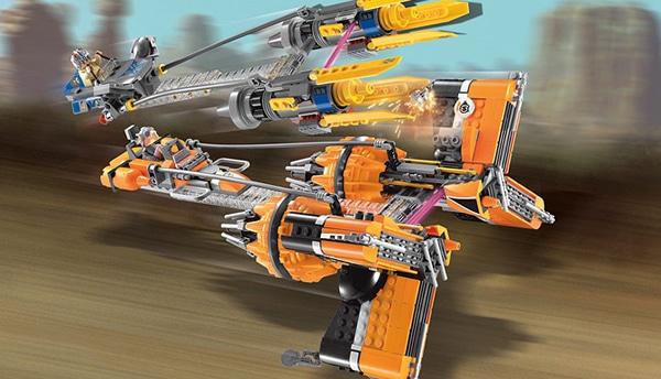 LEGO Star Wars 7962 Anakin Skywalker and Sebulba's Podracers