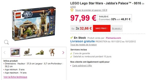 9516 Jabba's Palace à prix attractif chez Pixmania