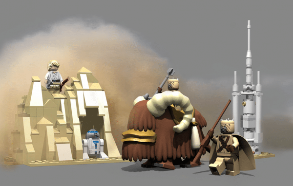 Cuusoo Project par Daiman Mardon : LEGO Tusken Raiders & Bantha