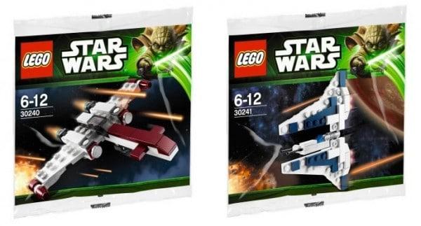 LEGO Star Wars 2013 Polybags : 30240 Star Wars Z-95 Headhunter & 30241 Star Wars Gauntlet