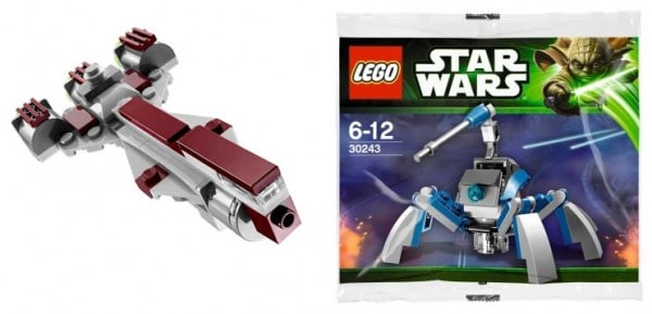 LEGO Star Wars 2013 Polybags : 30242 Star Wars Republic Frigate & 30243 Star Wars Umbaran MHC