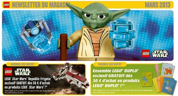 LEGO Store Calendar Mars 2013