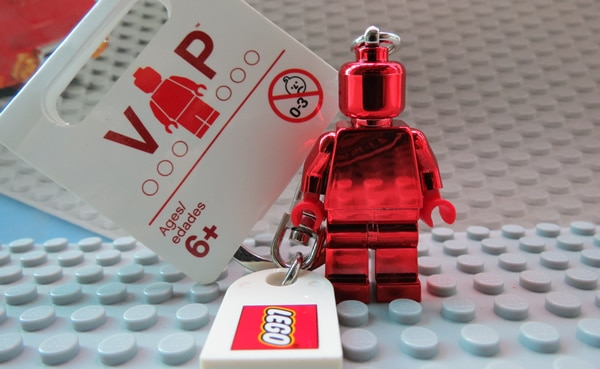 LEGO VIP Red Chrome Keychain 853303
