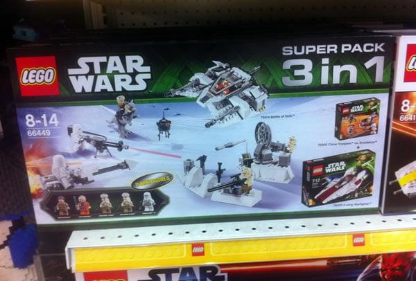le super pack vu chez toys r us lego star wars superpack