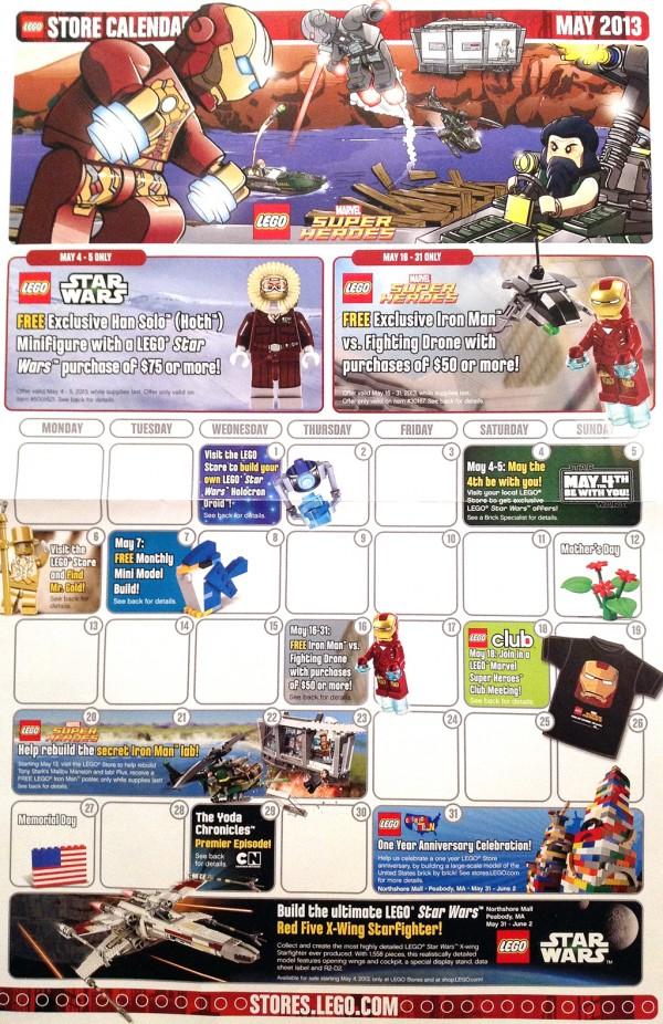 LEGO Store Calendar May 2013 (USA)