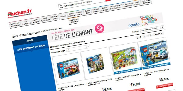 25% de Waaoh sur LEGO chez Auchan