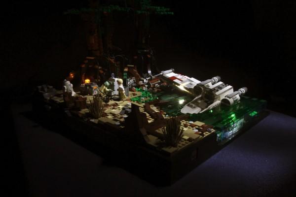 Yoda and Luke on Dagobah par Bayou