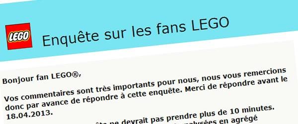 Enquête sur les fans LEGO