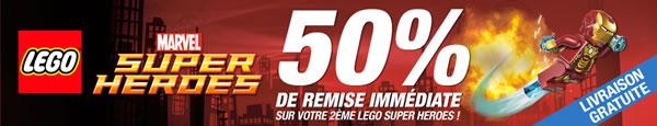 Pixmania - 50% de remise immédiate sur votre 2ème set LEGO Super Heroes