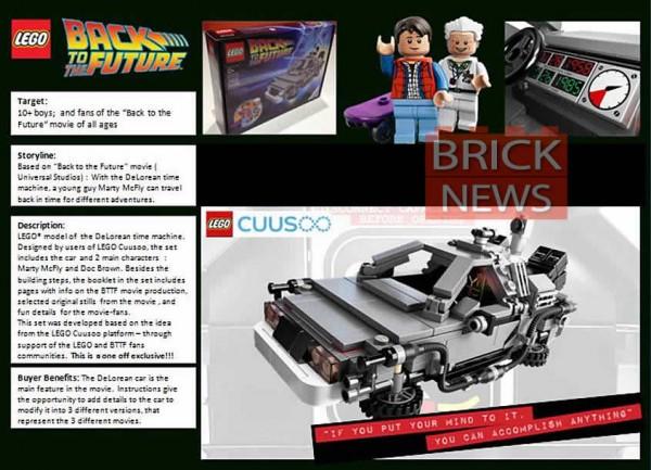 Back to the Future™ Time Machine (Image publiée par bricknews.co.uk)