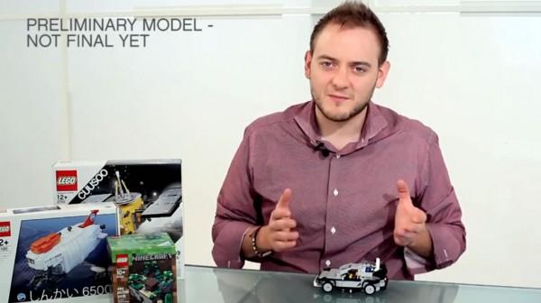 LEGO Cuusoo BTTF DeLorean Preliminary Model