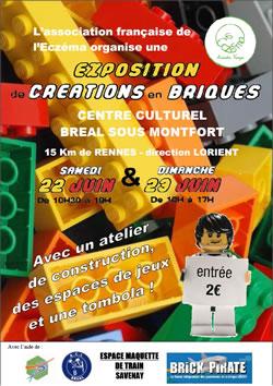 Association Française de l'Eczéma - Expo LEGO à Bréal-sous-Monfort