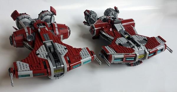 khatmorg Jedi Defender-Class Cruiser vs LEGO 75025 Jedi Defender-Class Cruiser