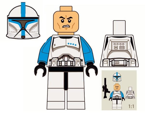 Clone Lieutenant Exclusive Minifig - Star Wars Week-end @LEGOLAND