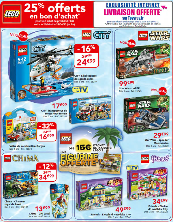 Toys R Us - offre Juin 2013