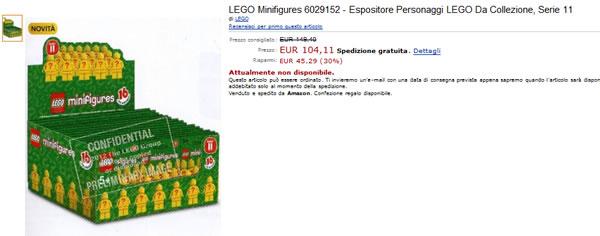 LEGO Collectible Minifigures Series 11 @amazon.it