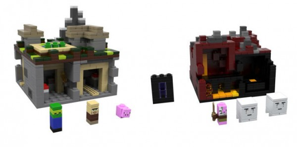 LEGO Minecraft : The Village & The Nether