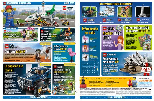 LEGO Store Calendar - Août 2013
