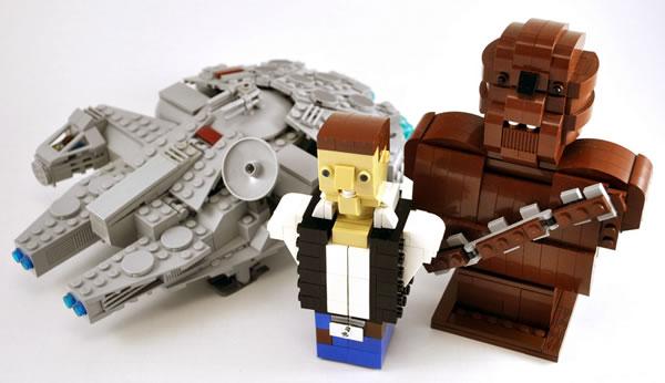 Millennium Falcon, Han Solo & Chewbacca par Omar Ovalle