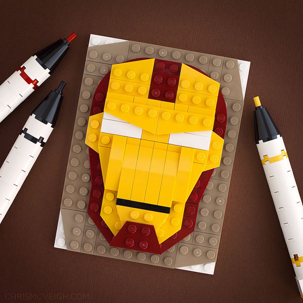 Brick Sketch : Man in the Iron Mask par Chris McVeigh