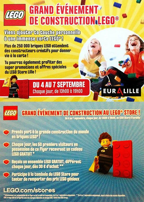 LEGO Store Euralille : Cadeaux et tombola du 4 au 7 septembre
