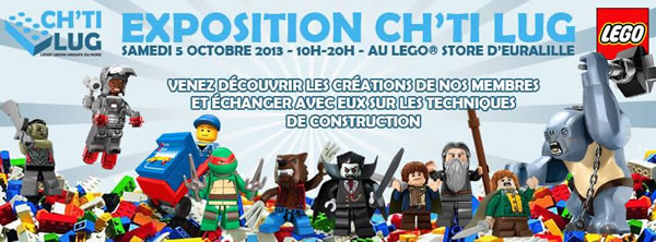 CH'TI LUG Expose au LEGO Store d'Euralille