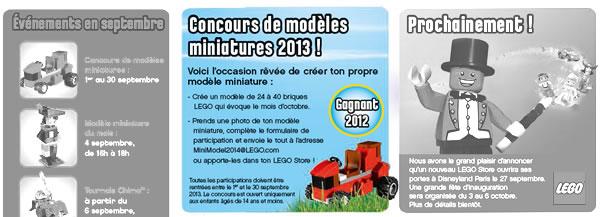 Concours de modèles miniatures 2013