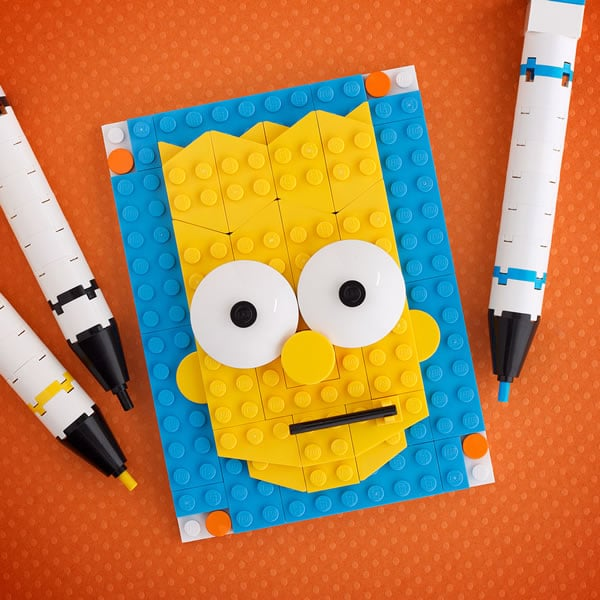 Brick Sketch : Bart Simpson par Chris McVeigh