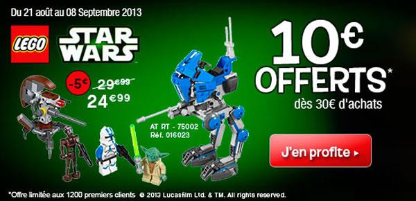 Toys R Us - Réduction sur la gamme LEGO Star Wars