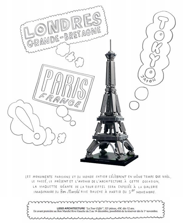 LEGO Architecture : 21019 Eiffel Tower