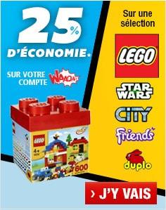 25% d'économies sur les produits LEGO chez Auchan