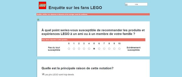 LEGO Q3 Survey