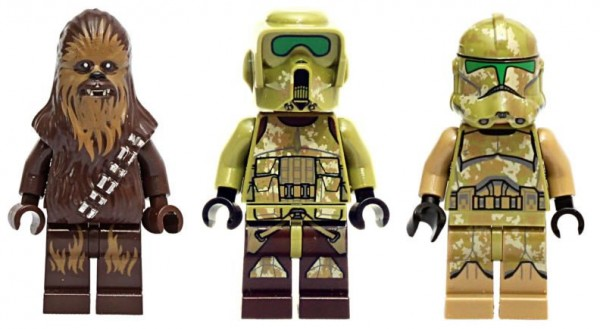 LEGO Star Wars 2014 minifigs : Chewbacca, Kashyyyk Trooper & 41st Elite Corps Trooper