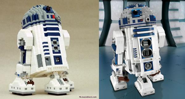 R2-D2 Nanoblocks - Christopher Tan