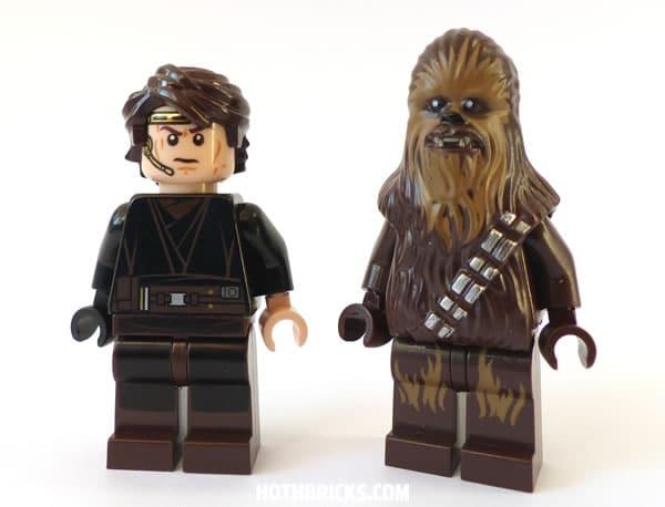 LEGO Star Wars 75038 Jedi Interceptor : Anakin Skywalker & 75042 Droid Gunship : Chewbacca