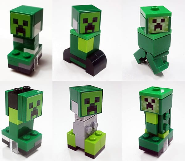 LEGO Minecraft Cobuild Creeper prototypes
