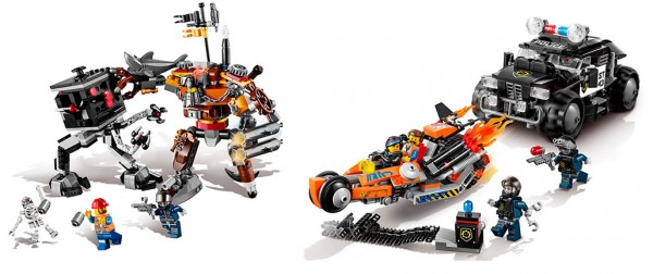 The LEGO Movie : 70807 MetalBeard's Duel & 70808 Super Cycle Chase