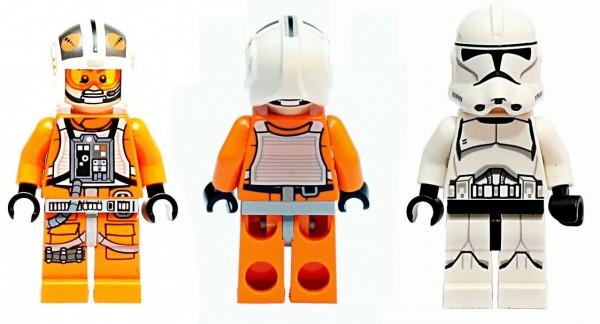 LEGO Star Wars 2014 minifigs : X-Wing Pilot (75032) & Clone Trooper (75028)