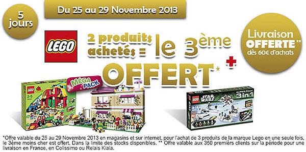 Toys R Us : 2 produits LEGO achetés, le 3ème offert