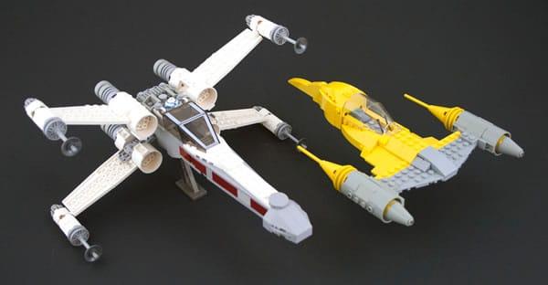 X-Wing & Naboo Starfighter par eldeeem