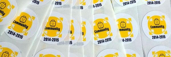 LEGO AFOL Days 2014 Stickers (Photo par hippotam)