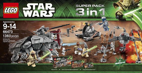 LEGO Star Wars Super Pack 3in1 66473