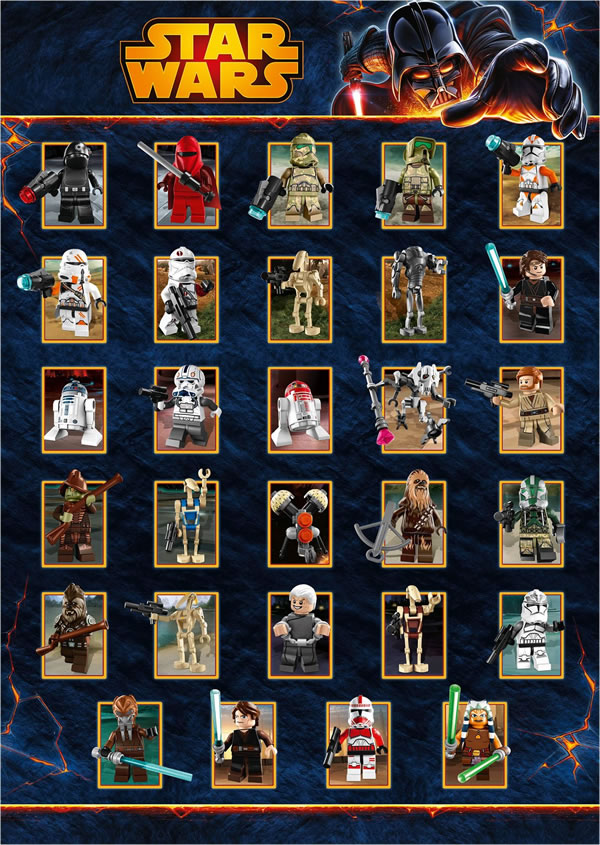 LEGO Star Wars character poster