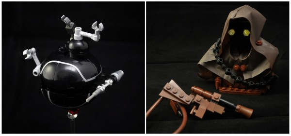 IT-O Interrogation Droid & Jawa par Omar Ovalle