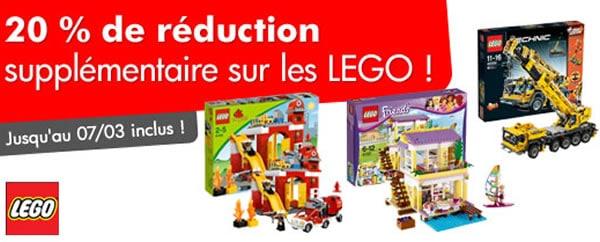 MyToys.fr : 20% de remise sur les produits LEGO