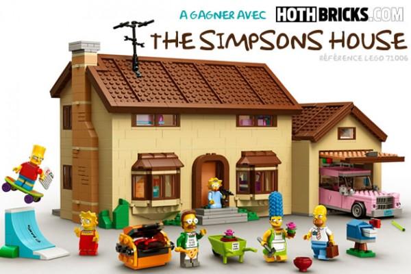 Une boite LEGO 71006 The Simpsons House à gagner sur Hoth Bricks