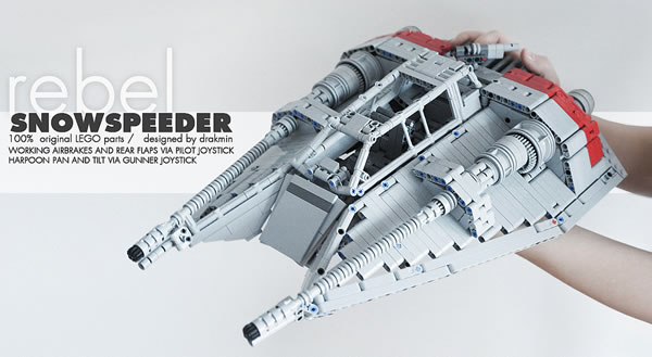 Technic MOC Rebel Snowspeeder par Drakmin