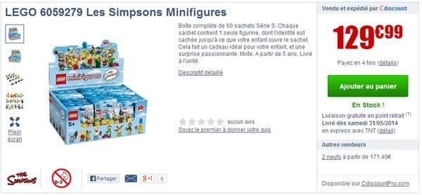 lego simpsons cdiscount